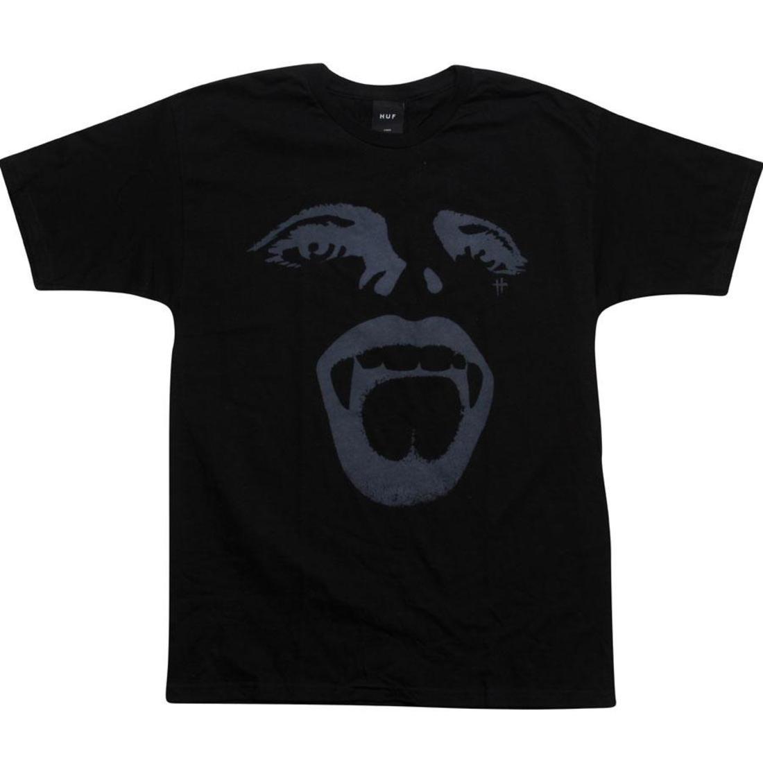 ハフ Tシャツ 黒 ブラック 【 HUF BLACK VAMPIRE STRIKES TEE 】 メンズファッション トップス Tシャツ カットソー