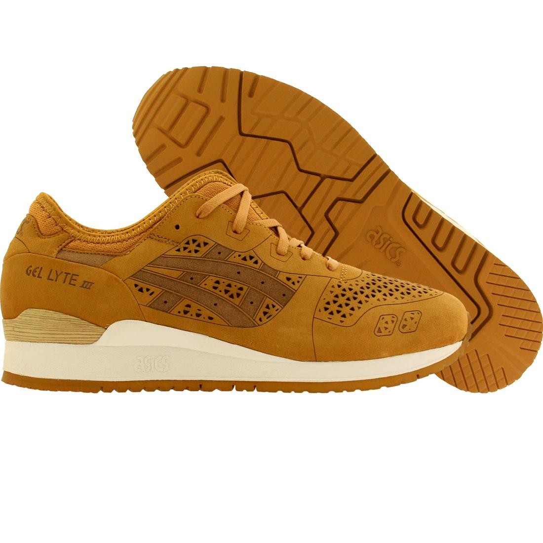 【海外限定】アシックス アルファ 靴 メンズ靴 【 ASICS TIGER MEN GELLYTE III LASERCUT ALPHA PACK TAN 】