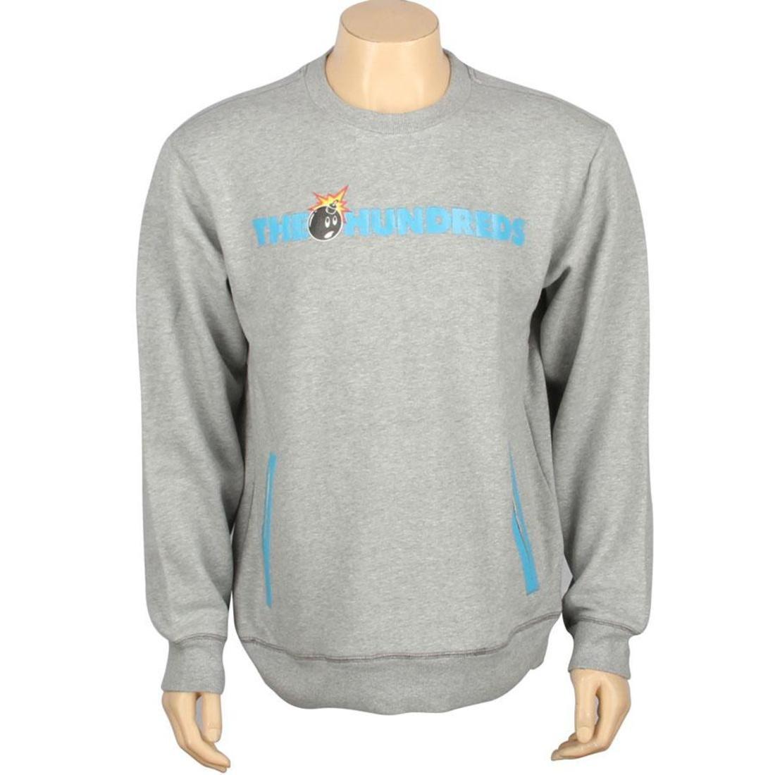 【スーパーセール中! 6/11深夜2時迄】メンズファッション トップス Tシャツ カットソー メンズ 【 The Hundreds Roo Crewneck (heather Grey) 】 Heather Grey