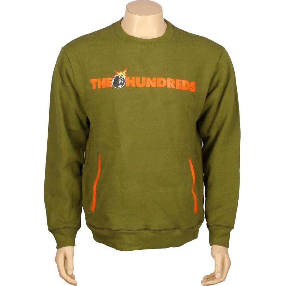 【スーパーセール中! 6/11深夜2時迄】メンズファッション トップス Tシャツ カットソー メンズ 【 The Hundreds Roo Crewneck (olive) 】 Olive