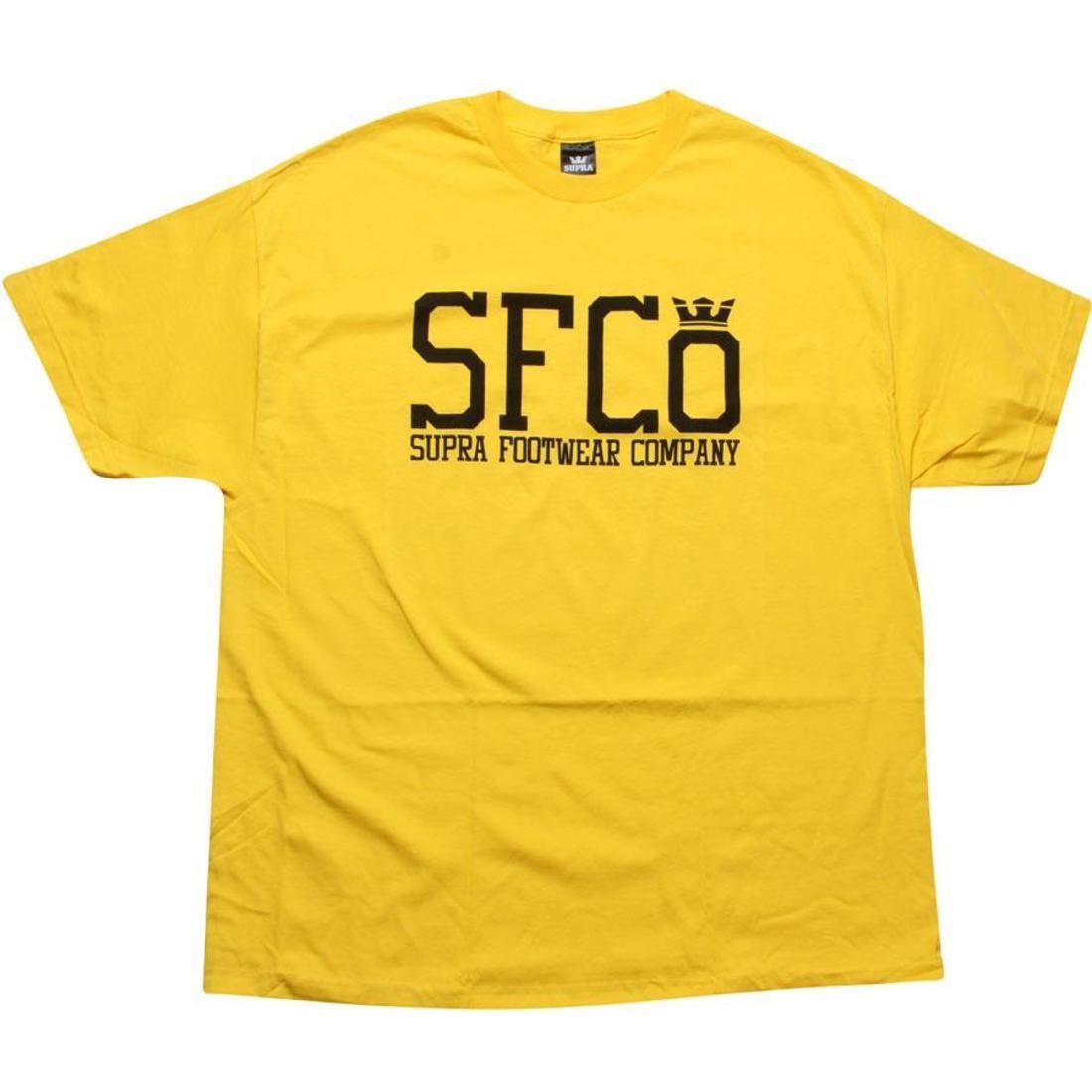 SUPRA スープラ Tシャツ 黄色 イエロー 黒 ブラック 【 SUPRA YELLOW BLACK SFCO TEE 】 メンズファッション トップス Tシャツ カットソー