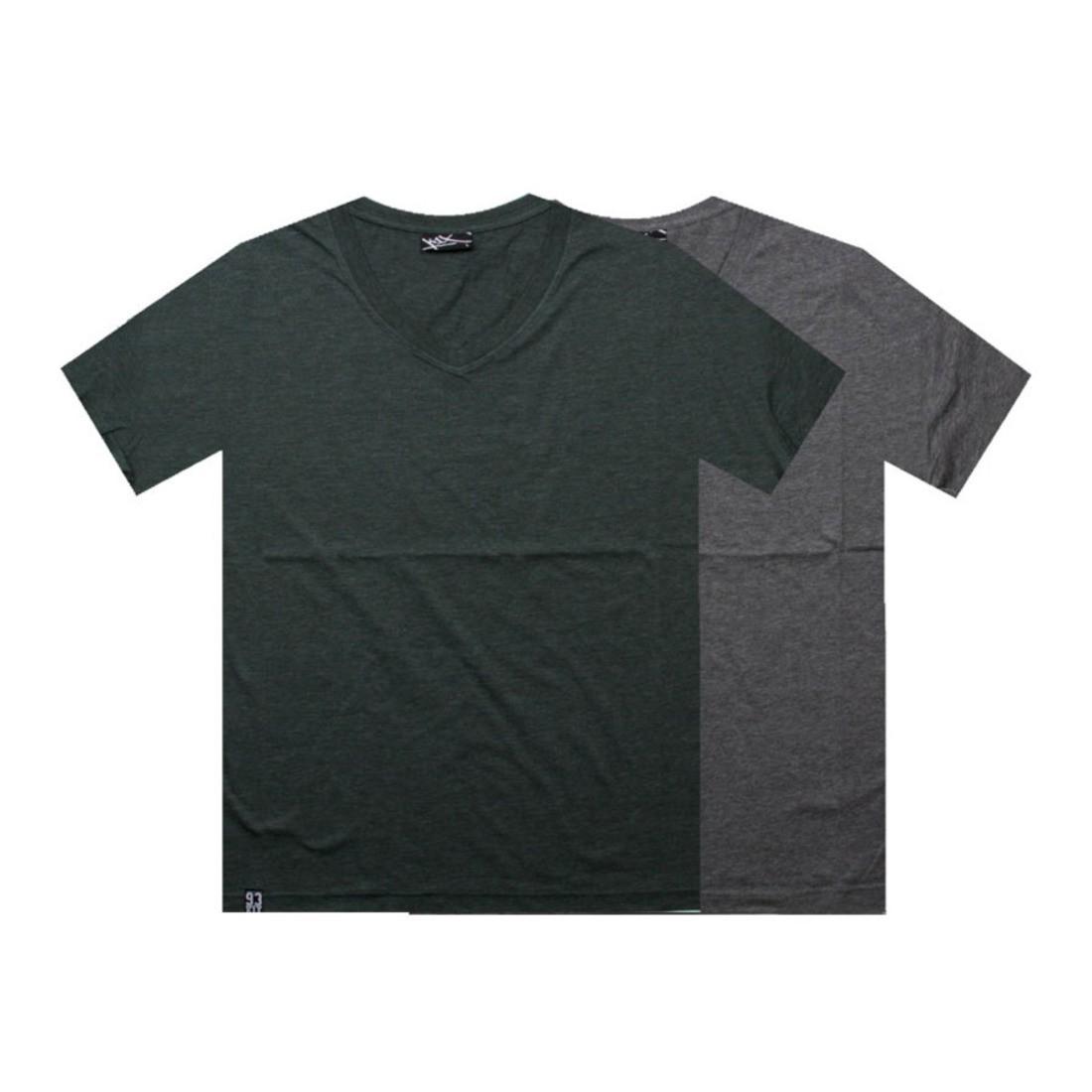 【海外限定】インパクト ブイネック Tシャツ GRAY灰色 グレイ ヘザー カットソー メンズファッション 【 GREY HEATHER K1X DOUBLE IMPACT VNECK TEES DARK FOREST 】