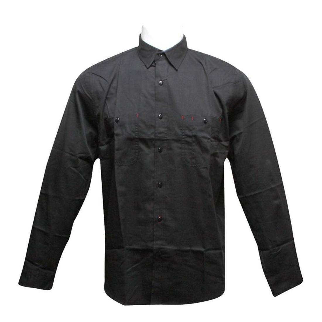 【海外限定】ハフ トップス メンズファッション 【 HUF WORK SHIRT BLACK 】