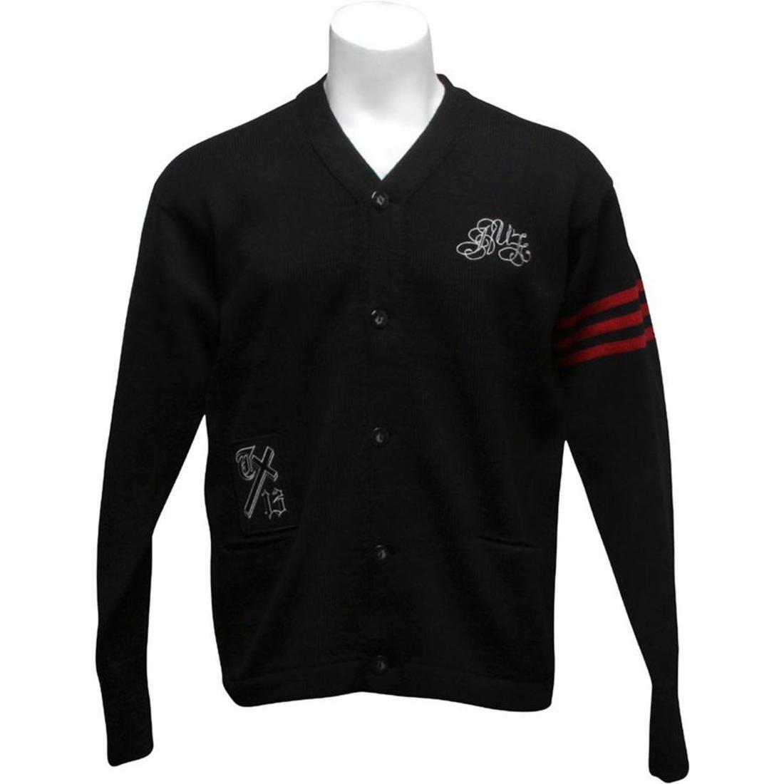 HUF ハフ 黒 ブラック 【 HUF BLACK CORBIN VCOAT 】 メンズファッション トップス スウェット トレーナー
