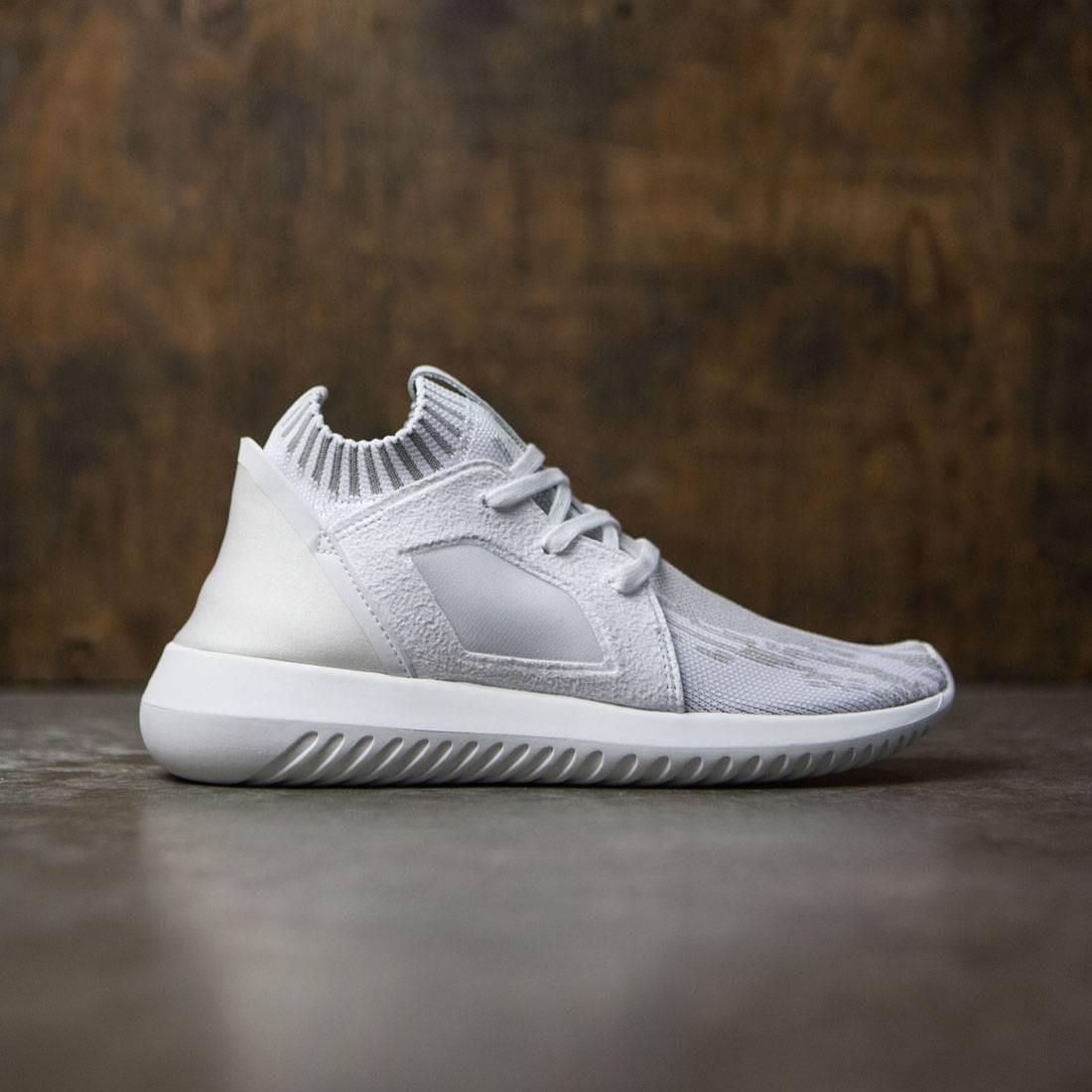 【海外限定】アディダス 白 ホワイト スニーカー レディース靴 【 ADIDAS WHITE WOMEN TUBULAR DEFIANT PRIMEKNIT W FOOTWEAR CLEAR GRANITE 】