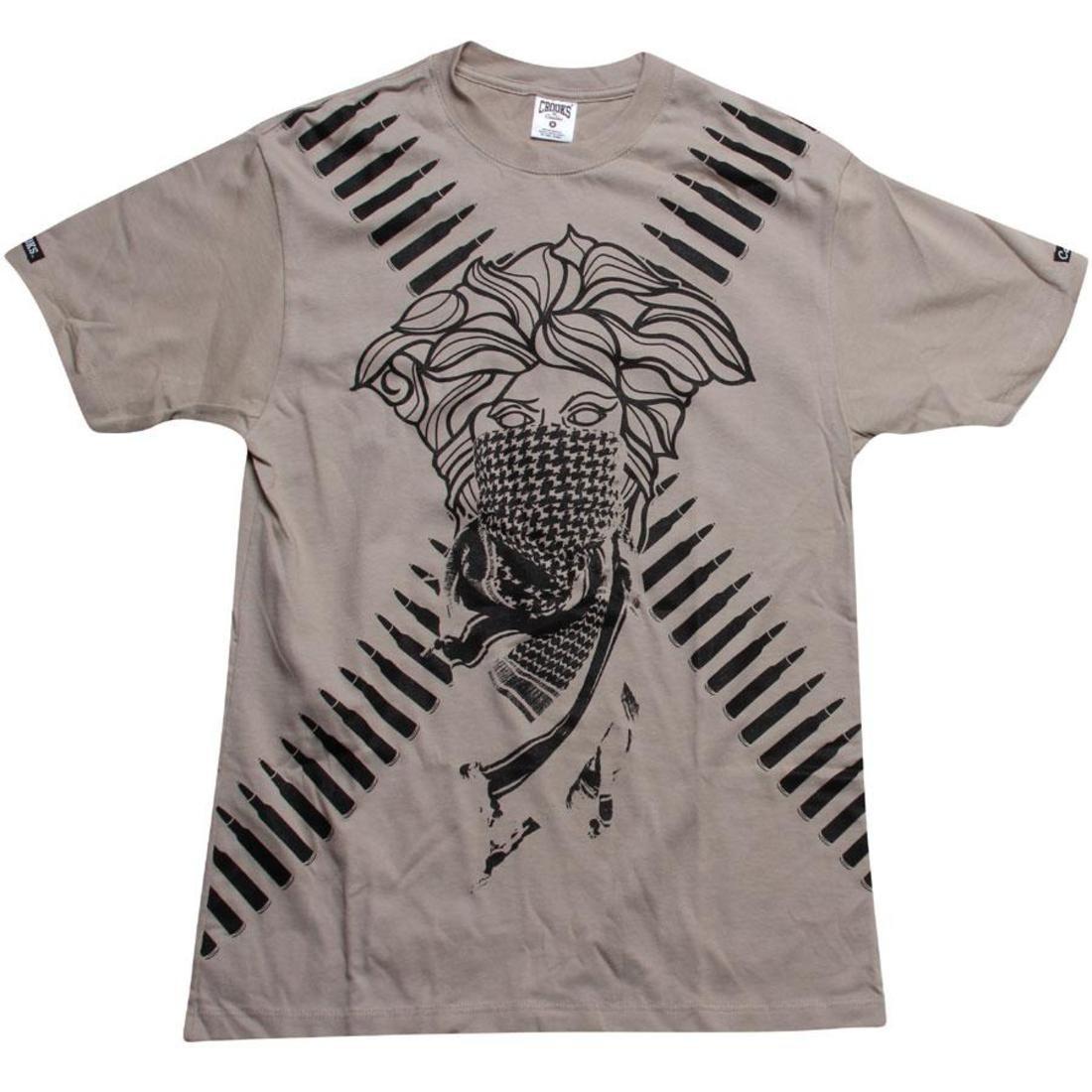 【海外限定】Tシャツ メンズファッション カットソー 【 CROOKS AND CASTLES REVOLT BANDITO TEE SAND 】