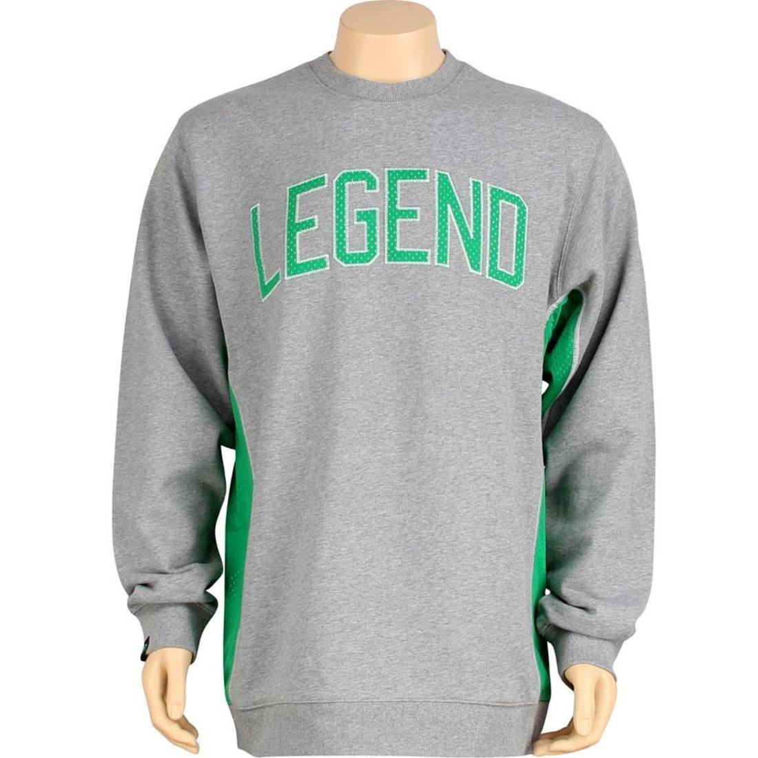 K1X レジェンド 灰色 グレ ボストン ヘザー 緑 グリーン 【 LEGEND HEATHER GREEN K1X LARRY CREWNECK GREY BOSTON 】 メンズファッション トップス Tシャツ カットソー
