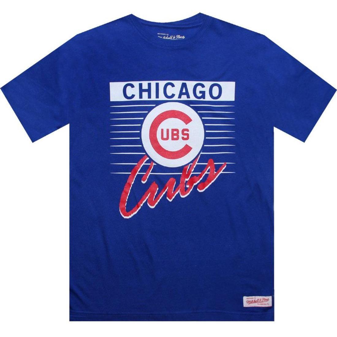 【海外限定】シカゴ カブス Tシャツ トップス メンズファッション 【 MITCHELL AND NESS CHICAGO CUBS BLANK TEE ROYAL BLUE 】