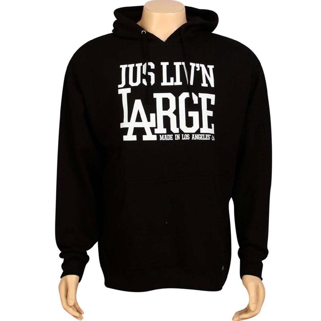 【海外限定】フーディー パーカー メンズファッション トップス 【 JSLV LIVIN LARGE PULLOVER HOODY BLACK 】