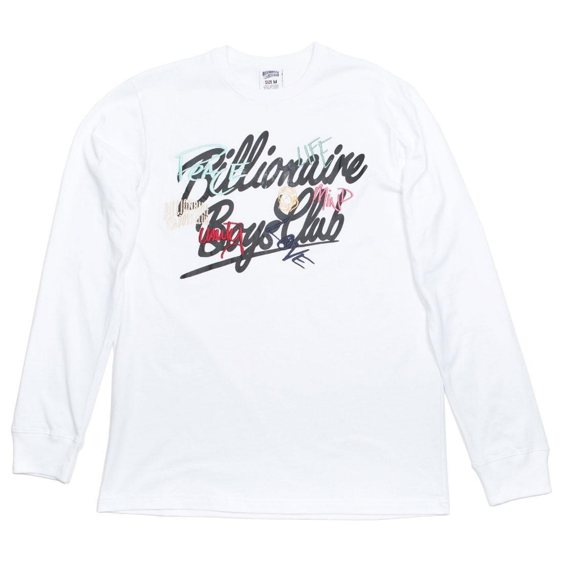 【スーパーセール中! 6/11深夜2時迄】ビリオネアボーイズクラブ BILLIONAIRE BOYS CLUB Tシャツ メンズファッション トップス カットソー メンズ 【 Men United Ls Tee (white) 】 White
