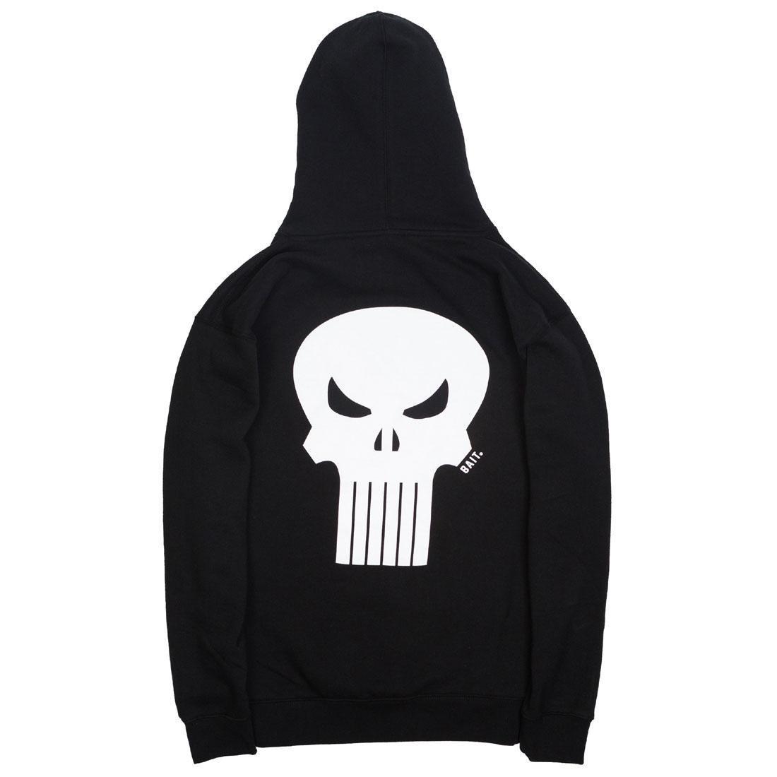 【海外限定】フーディー パーカー メンズファッション 【 BAIT X MARVEL PUNISHER MEN SKULL HOODY BLACK 】