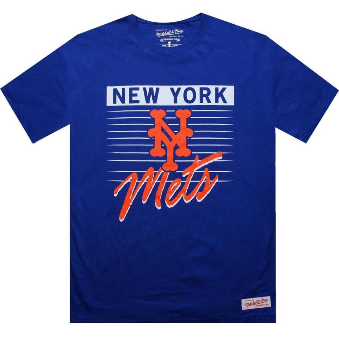 【海外限定】メッツ Tシャツ メンズファッション カットソー 【 MITCHELL AND NESS NEW YORK METS BLANK TEE ROYAL 】