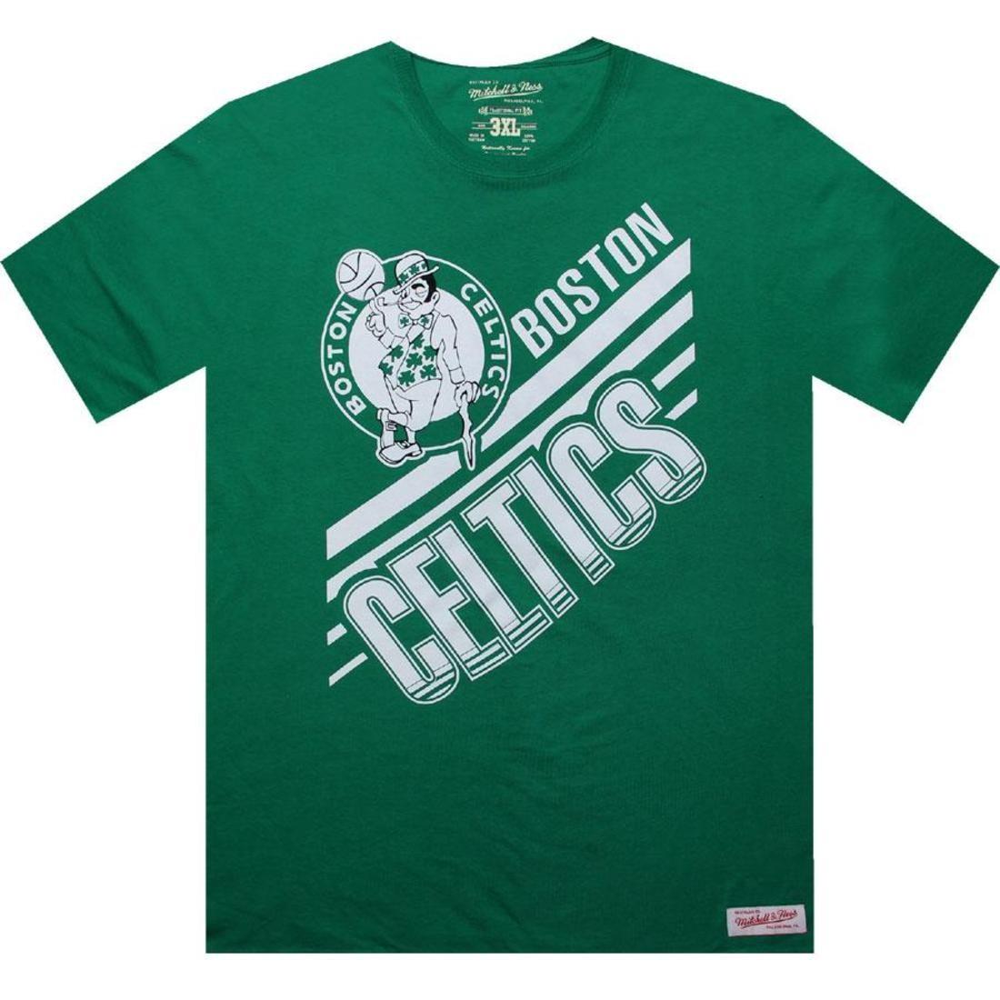 【海外限定】ボストン セルティックス Tシャツ メンズファッション 【 MITCHELL AND NESS BOSTON CELTICS BLANK TEE KELLY 】【送料無料】