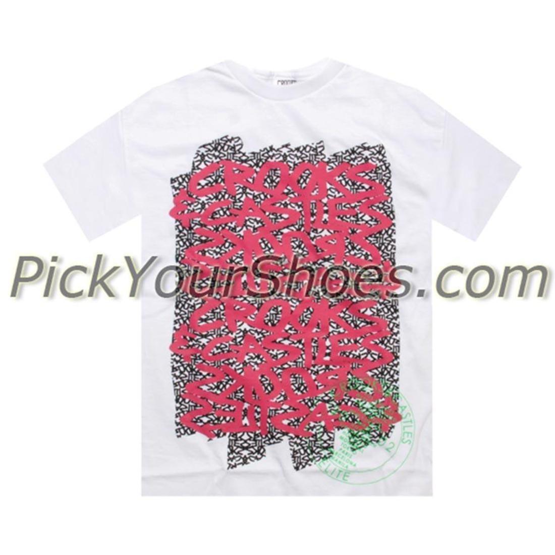 ストリート Tシャツ 白 ホワイト 【 STREET WHITE CROOKS AND CASTLES WRITING 2 TEE 】 メンズファッション トップス Tシャツ カットソー