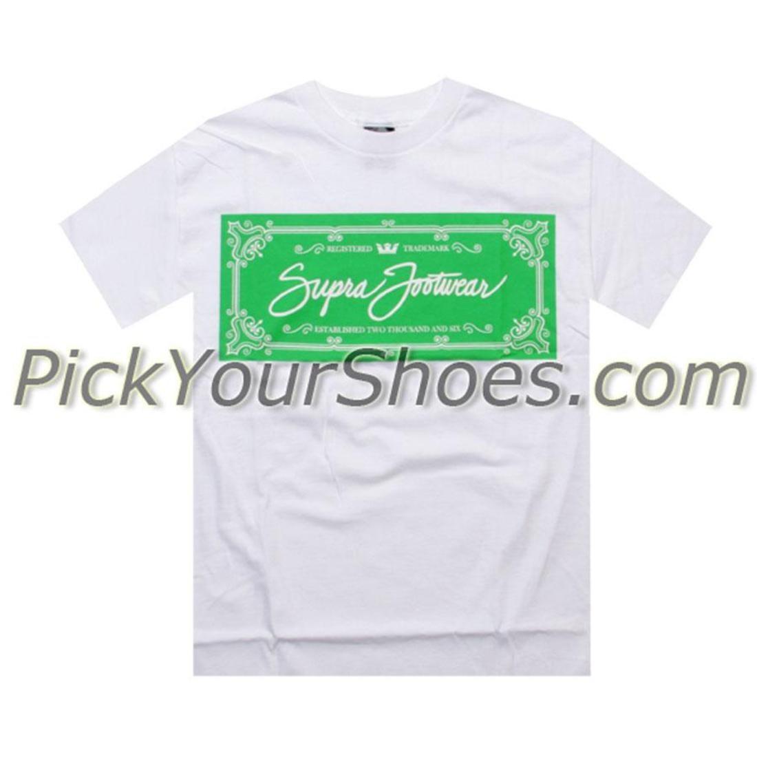 SUPRA スープラ Tシャツ 白 ホワイト 【 SUPRA WHITE LABEL TEE 】 メンズファッション トップス Tシャツ カットソー