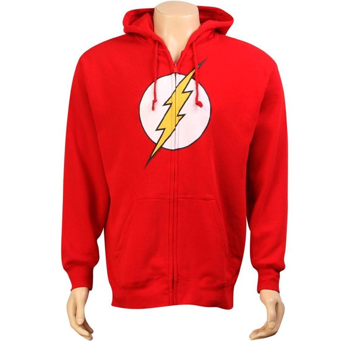 【海外限定】ディーシー コミックス ロゴ フーディー パーカー メンズファッション トップス 【 DC COMICS FLASH LOGO ZIP UP HOODY RED 】