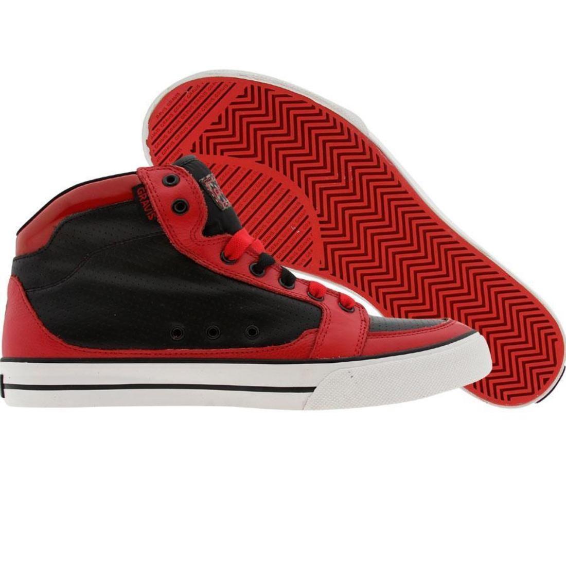 【海外限定】靴 スニーカー 【 GRAVIS LOWDOWN HC LX BLACK RED 】