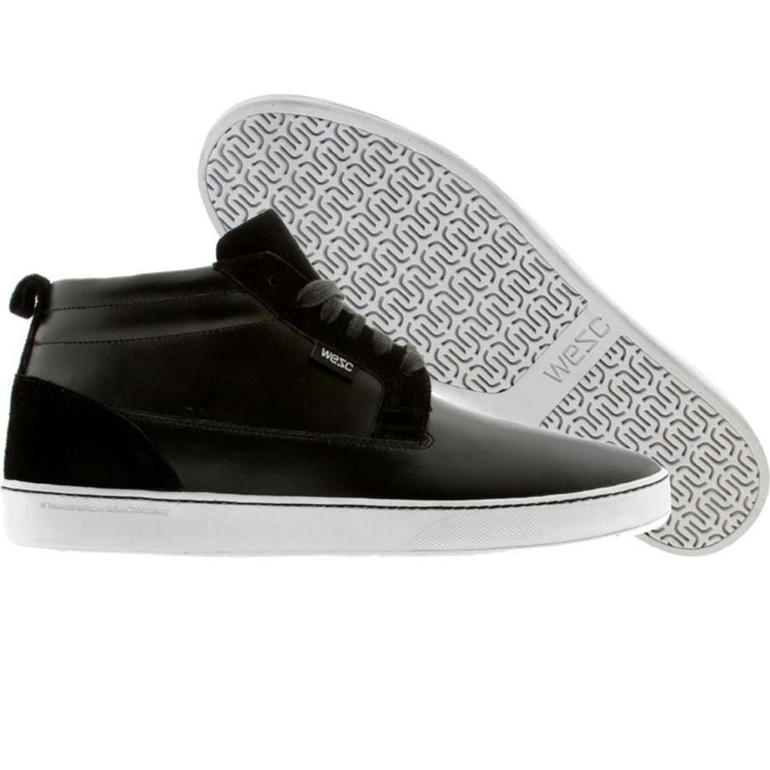 【海外限定】ウィーエスシー シューズ 運動靴 メンズ靴 スニーカー 【 WESC HAGELIN BLACK SHOES 】