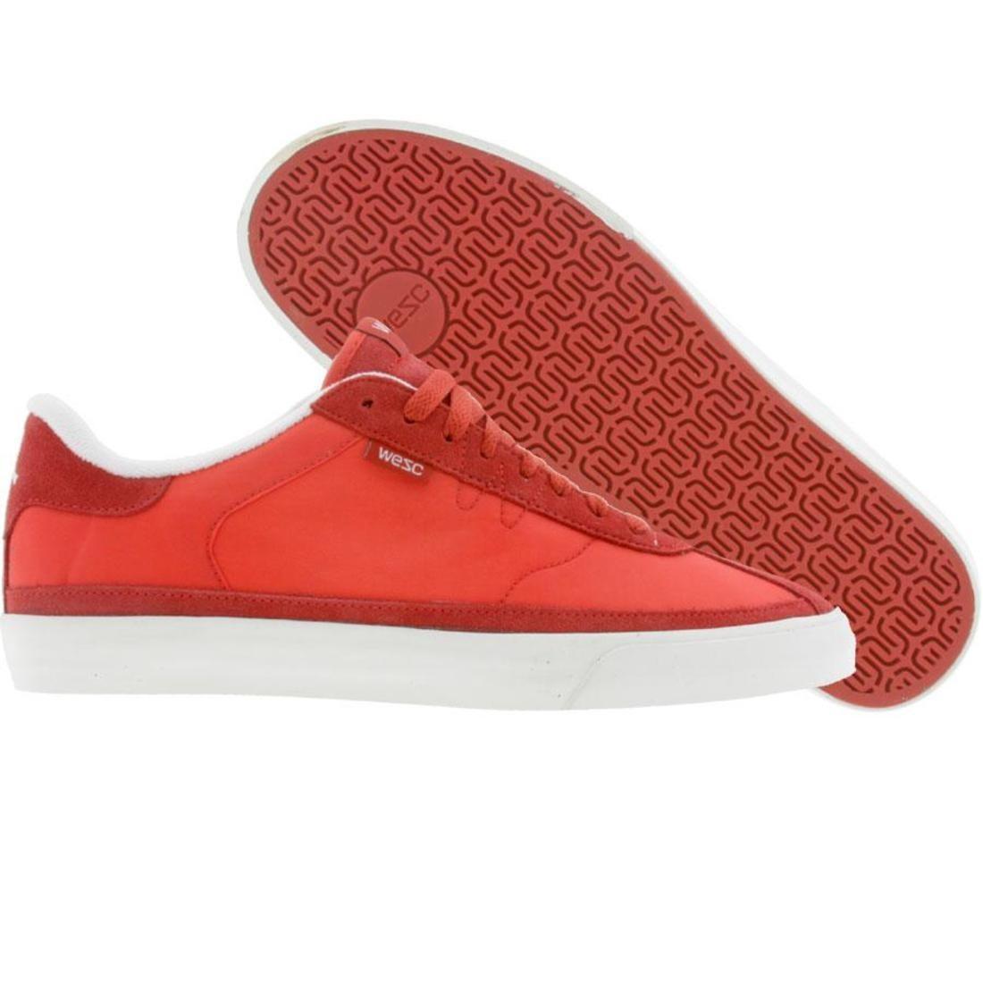 【海外限定】ウィーエスシー 赤 レッド シューズ 運動靴 スニーカー 靴 【 RED WESC THORPE TRUE ROUGE SHOES 】