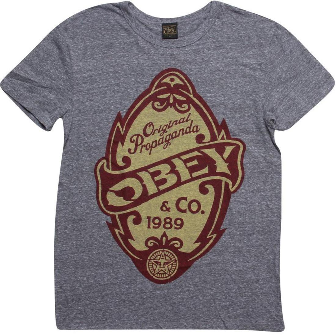 OBEY Tシャツ ヘザー GRAY灰色 グレイ 【 HEATHER GREY OBEY ORIGINAL PROPAGANDA TEE 】 メンズファッション トップス Tシャツ カットソー
