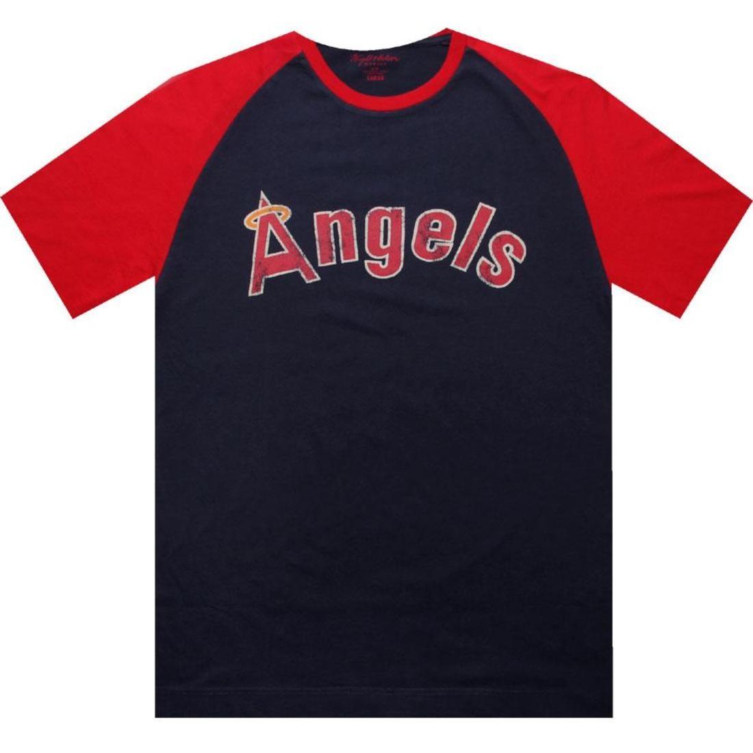 ライト エンジェルス Tシャツ 紺 ネイビー 赤 レッド 【 ANGELS NAVY RED WRIGHT AND DITSON LOS ANGELES PARATROOPER TEE 】 メンズファッション トップス Tシャツ カットソー