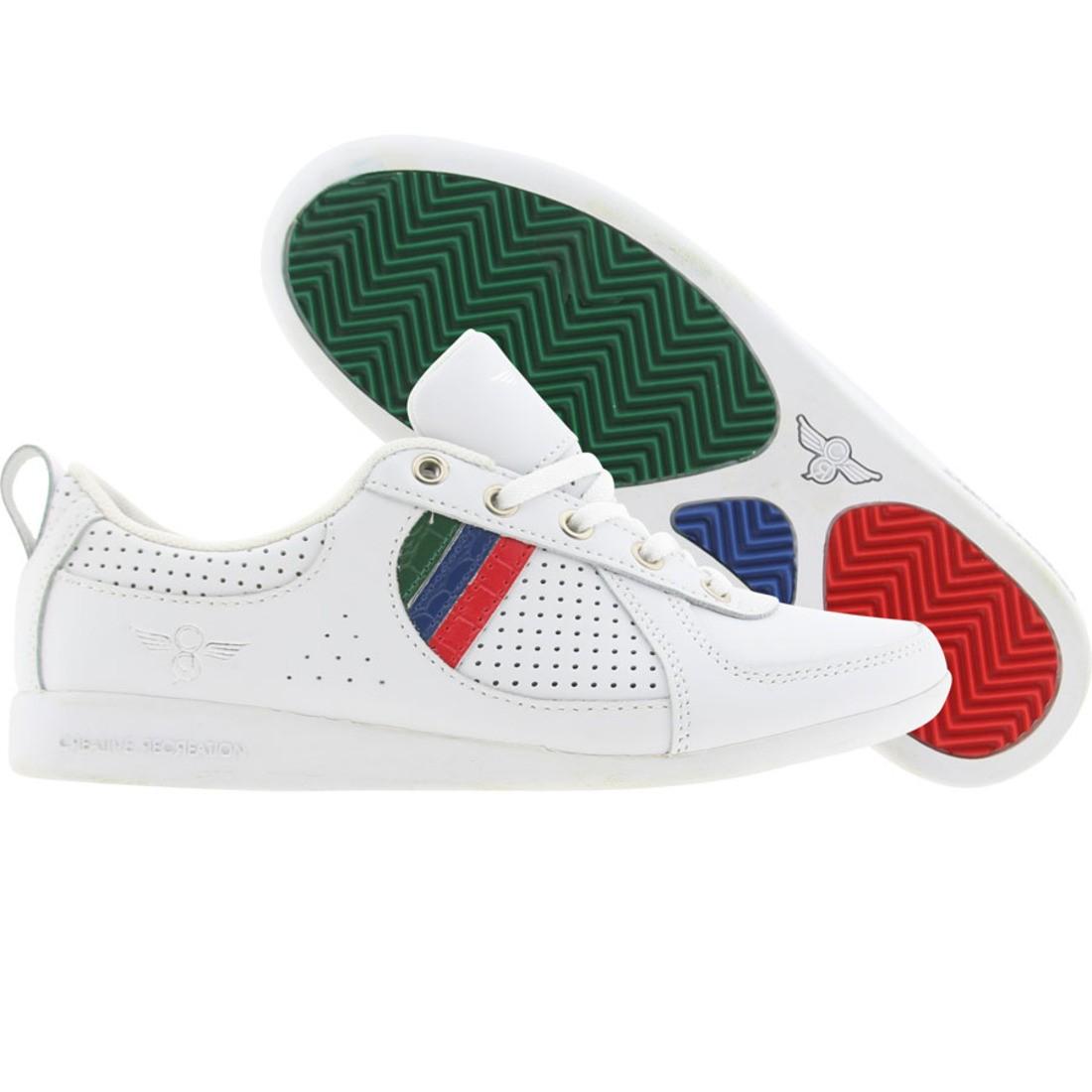 【海外限定】レディース 赤 レッド 青 ブルー 緑 グリーン 靴 レディース靴 【 RED BLUE GREEN CREATIVE RECREATION WOMENS GALOW WHITE CR 】