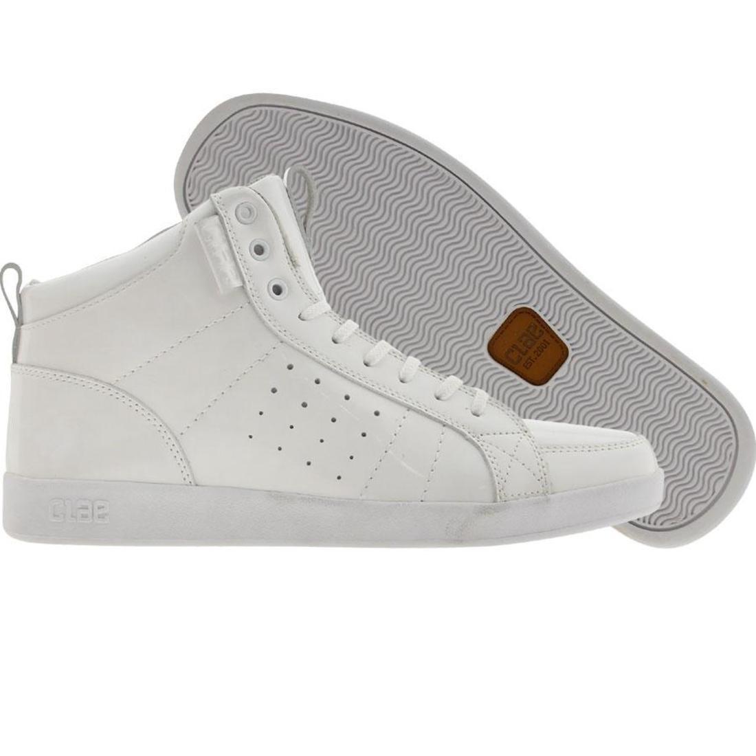 【海外限定】ラッセル 靴 メンズ靴 【 CLAE RUSSELL WHITE PATENT 】