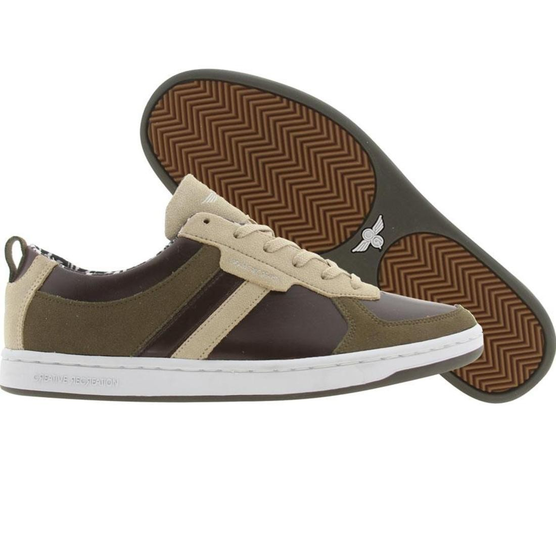 【海外限定】茶 ブラウン メンズ靴 スニーカー 【 BROWN CREATIVE RECREATION DICOCO LOW KHAKI MILITARY GREEN 】