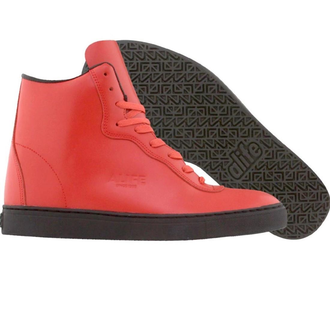 【海外限定】エーライフ ボックス レザー スニーカー メンズ靴 【 ALIFE EVERYBODY MONO SUPER BOX LEATHER RED 】