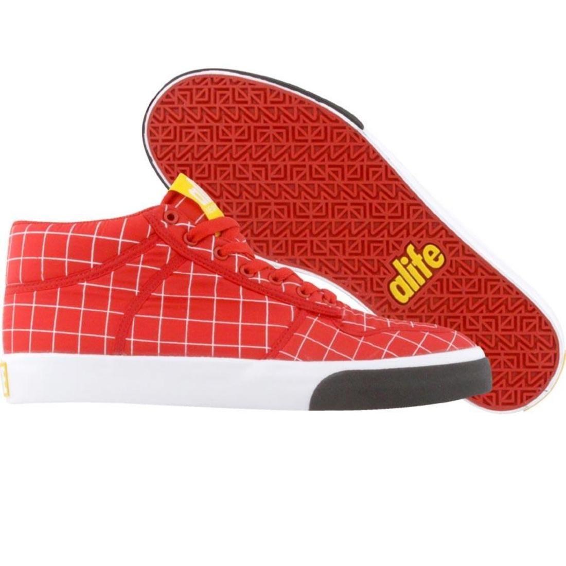 【海外限定】エーライフ ミッド ナイロン 靴 メンズ靴 【 ALIFE EVERYBODY MID PARACHUTE NYLON RED WHITE 】