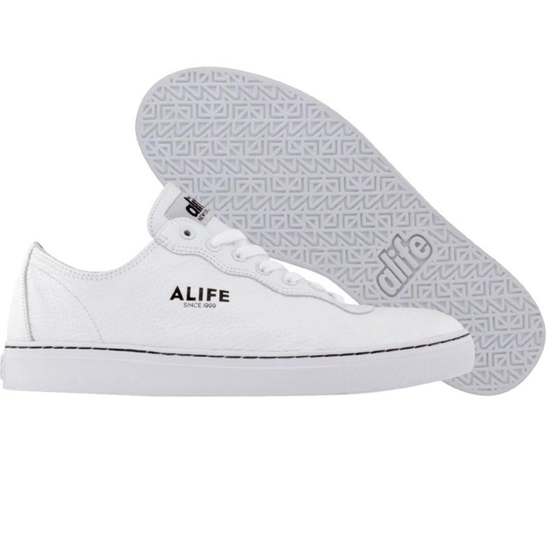 【海外限定】エーライフ レザー 靴 スニーカー 【 ALIFE EVERYBODY MONO LOW TUMBLED LEATHER WHITE 】