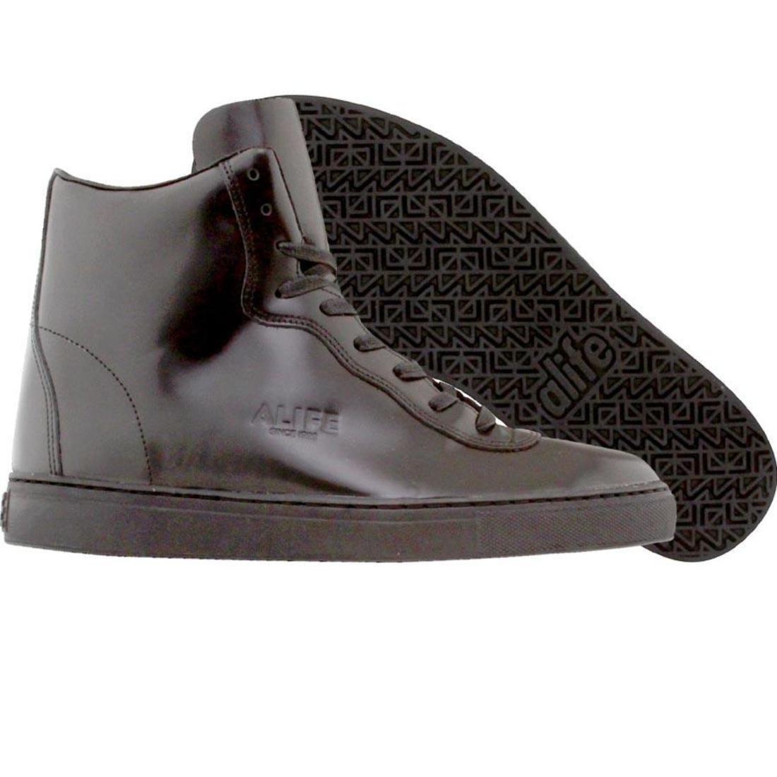 【海外限定】エーライフ ボックス レザー スニーカー 靴 【 ALIFE EVERYBODY MONO SUPER BOX LEATHER BLACK 】