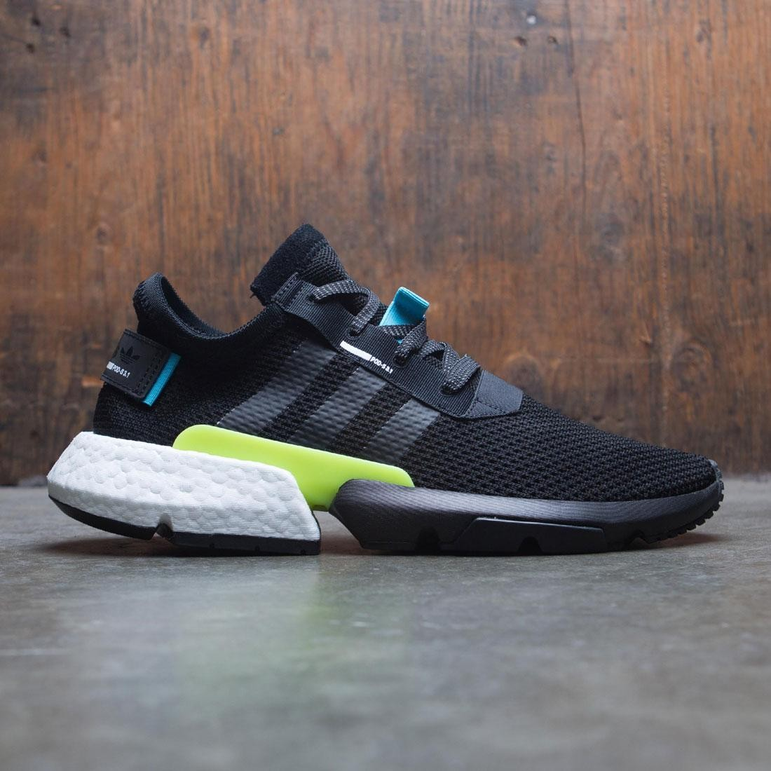 【海外限定】アディダス コア 黒 ブラック GRAY灰色 グレイ PODS3.1 靴 メンズ靴 【 ADIDAS BLACK GREY MEN CORE TWO 】