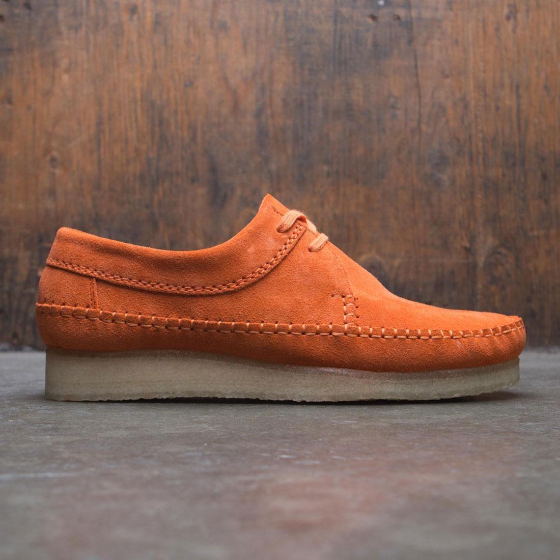 【海外限定】クラークス スエード スウェード メンズ靴 スニーカー 【 CLARKS MEN WEAVER SUEDE ORANGE SPICE 】