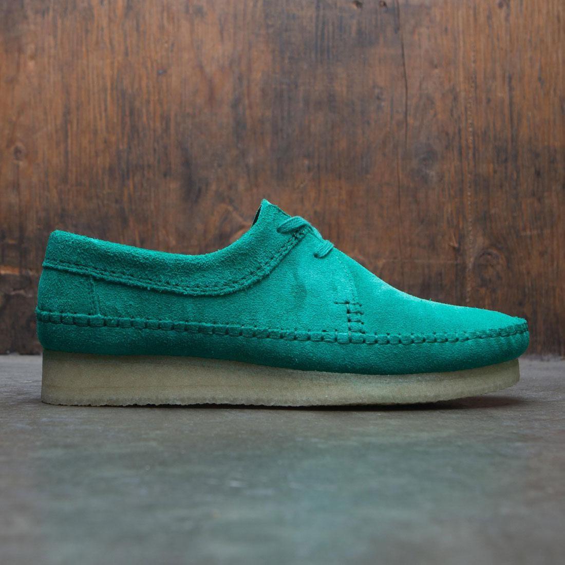 【海外限定】クラークス スエード スウェード 靴 メンズ靴 【 CLARKS MEN WEAVER SUEDE GREEN EMERALD 】【送料無料】