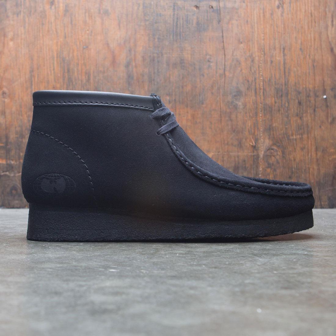 【海外限定】クラークス スエード スウェード 靴 スニーカー 【 CLARKS X WU TANG MEN WALLABEE SUEDE BLACK 】
