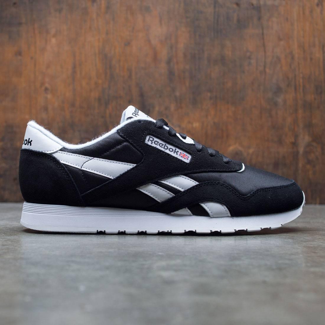【海外限定】リーボック クラシック ナイロン スニーカー 靴 【 REEBOK MEN CLASSIC NYLON BLACK WHITE 】