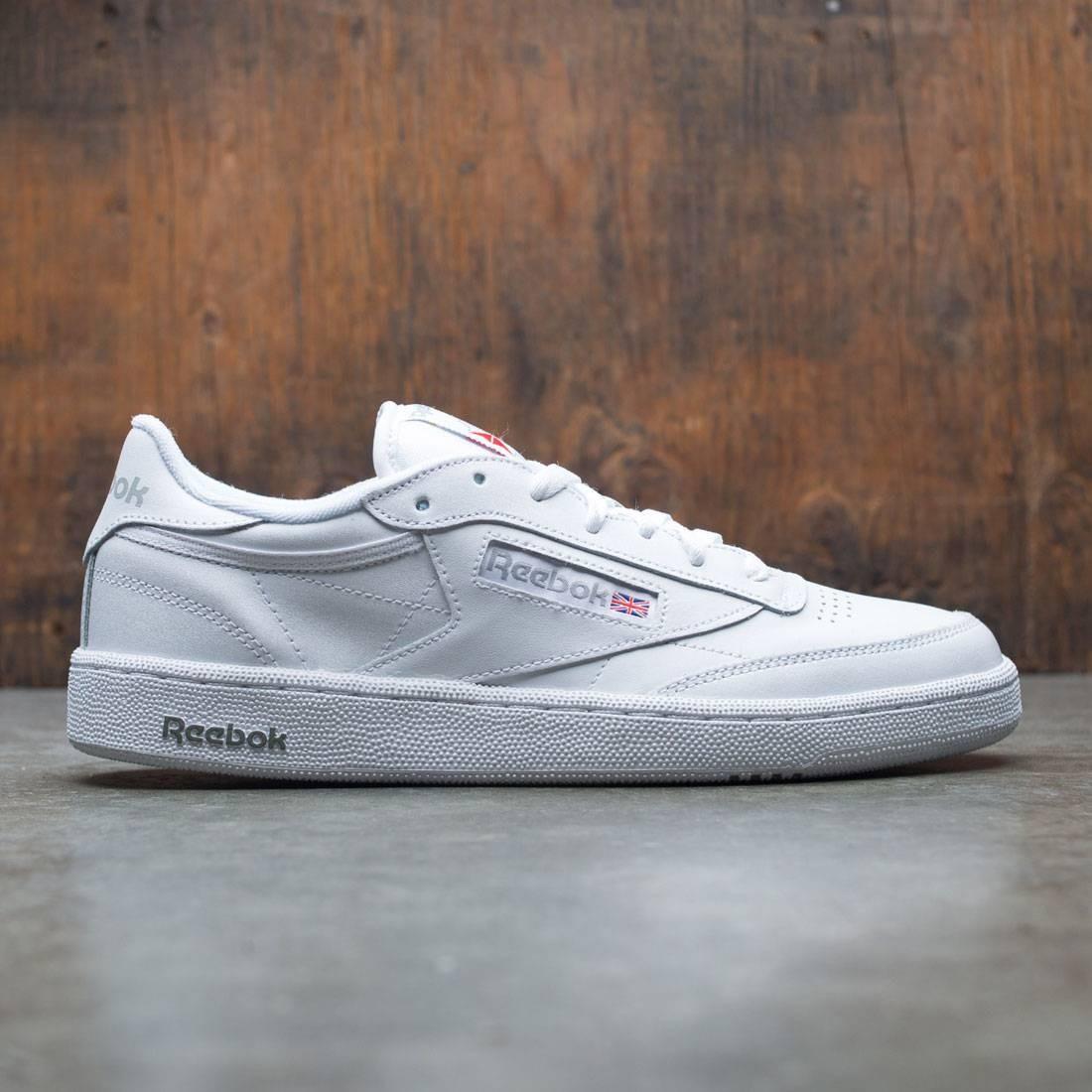 リーボック クラブ スニーカー 靴 メンズ靴 【 REEBOK MEN CLUB C 85 WHITE SHEER GREY 】
