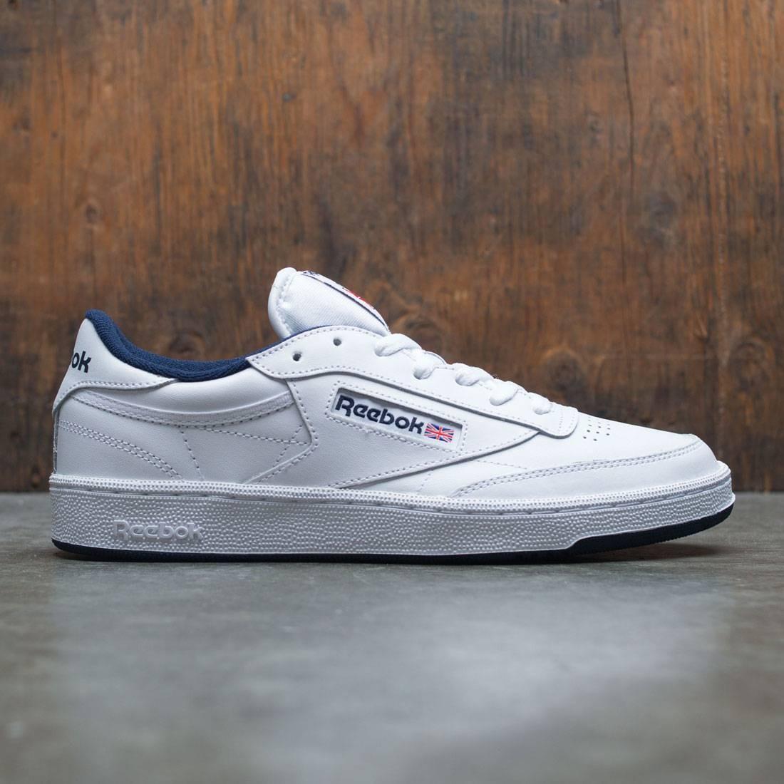 【海外限定】リーボック クラブ スニーカー 靴 【 REEBOK MEN CLUB C 85 WHITE NAVY 】【送料無料】