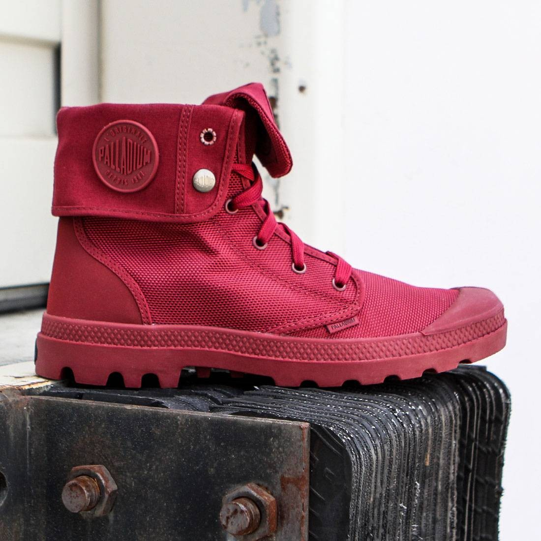 【海外限定】パラディウム メンズ靴 靴 【 PALLADIUM BOOTS MEN BAGGY II MONOCHROME BURGUNDY MAROON 】