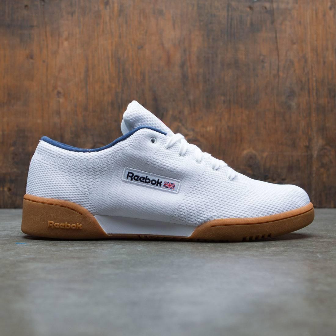 【海外限定】リーボック ワークアウト クラシック 白 ホワイト 靴 メンズ靴 【 REEBOK WORKOUT WHITE MEN CLEAN OG ULTRAKNIT CLASSIC COLLEGIATE NAVY 】