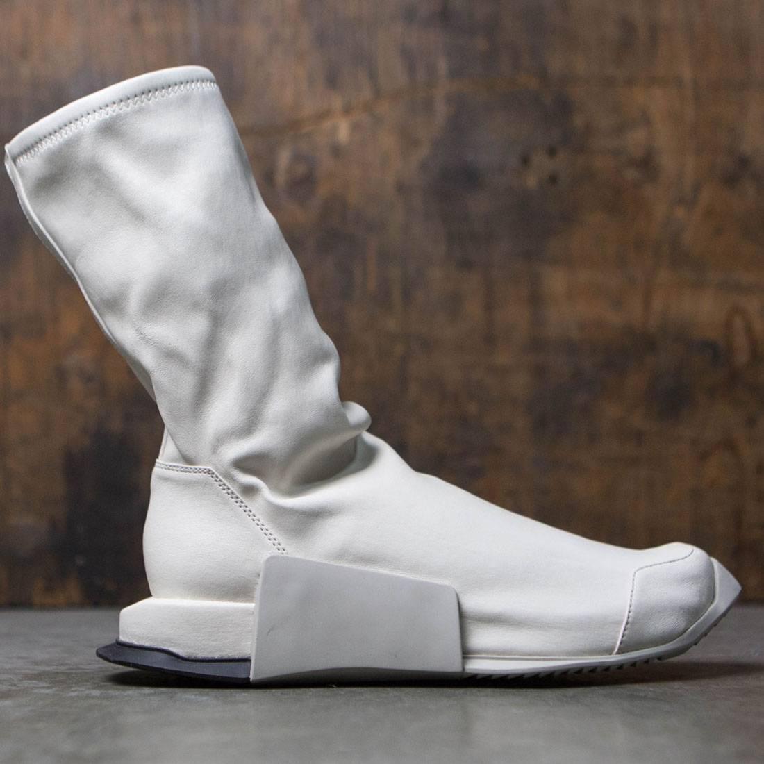 【海外限定】アディダス ハイ 白 ホワイト 靴 メンズ靴 【 ADIDAS WHITE X RICK OWENS MEN LEVEL RUNNER HIGH RO DINGE BLACK 】