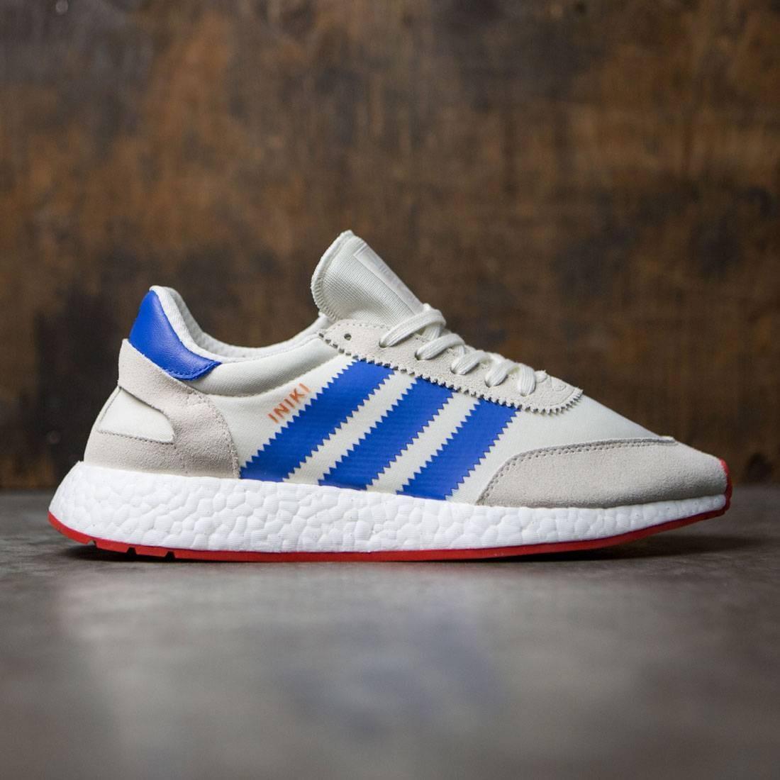 【海外限定】アディダス 白 ホワイト 青 ブルー コア メンズ靴 靴 【 ADIDAS WHITE BLUE MEN INIKI RUNNER OFF CORE RED 】