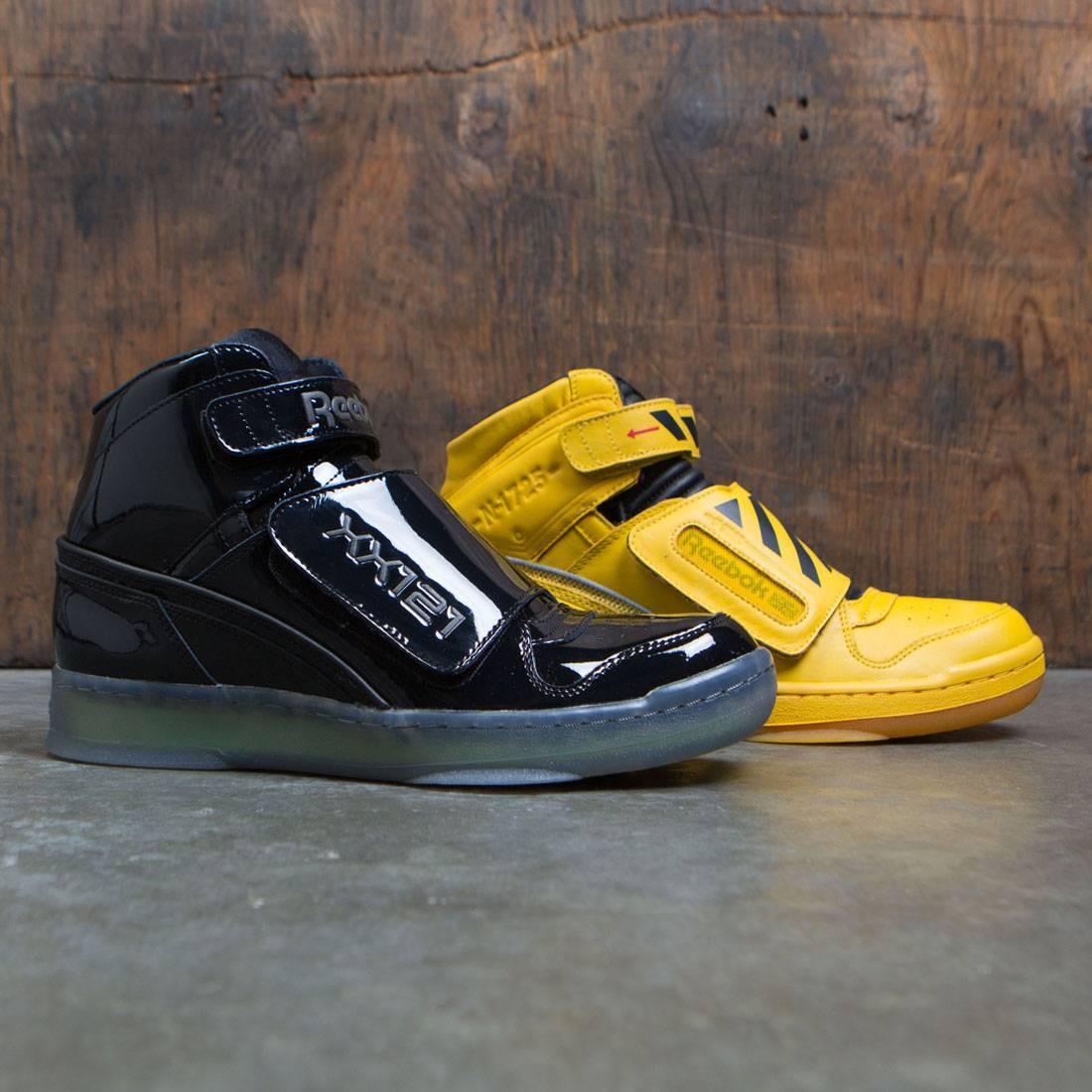 【海外限定】リーボック スタンパー ミッド 黒 ブラック メンズ靴 スニーカー 【 REEBOK BLACK MEN ALIEN STOMPER MID PL FINAL BATTLE PACK YELLOW RETRO GUM 】