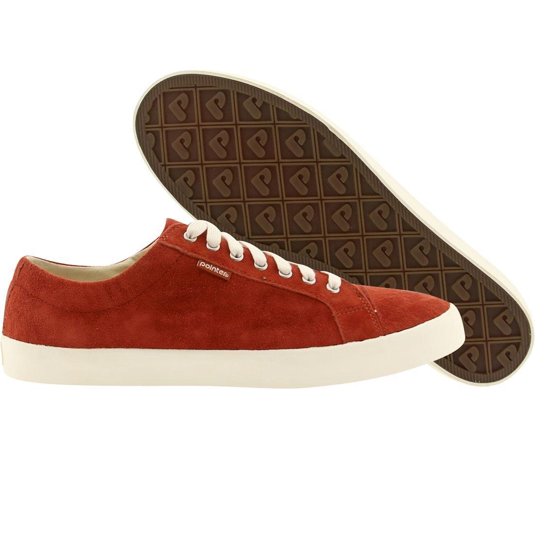 【海外限定】スエード スウェード メンズ靴 靴 【 POINTER MEN SEEKER SUEDE RED PICANTE WHITE 】
