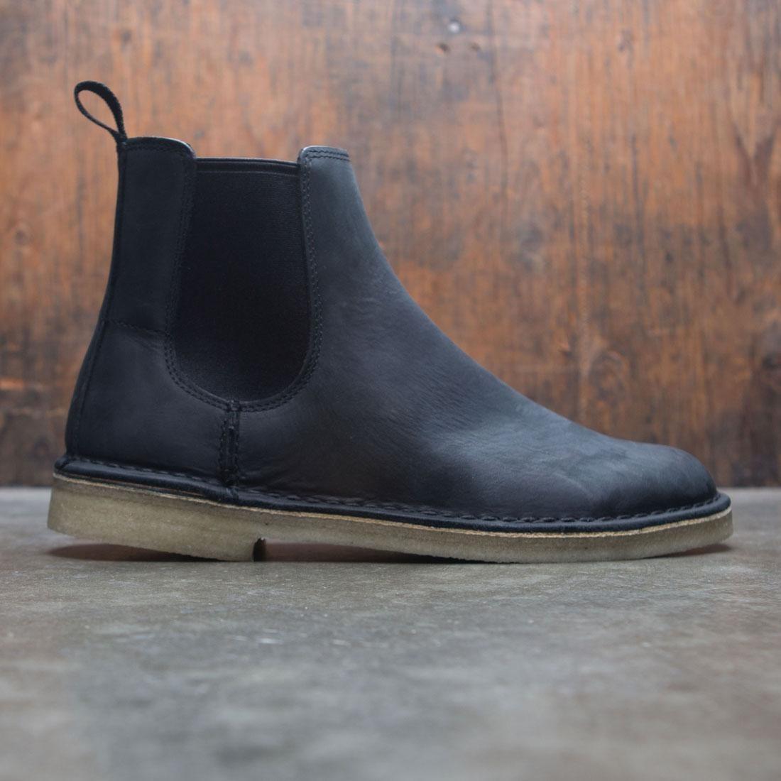 【海外限定】クラークス ブーツ スニーカー 靴 【 CLARKS MEN DESERT PEAK BOOT BLACK LEATHER 】