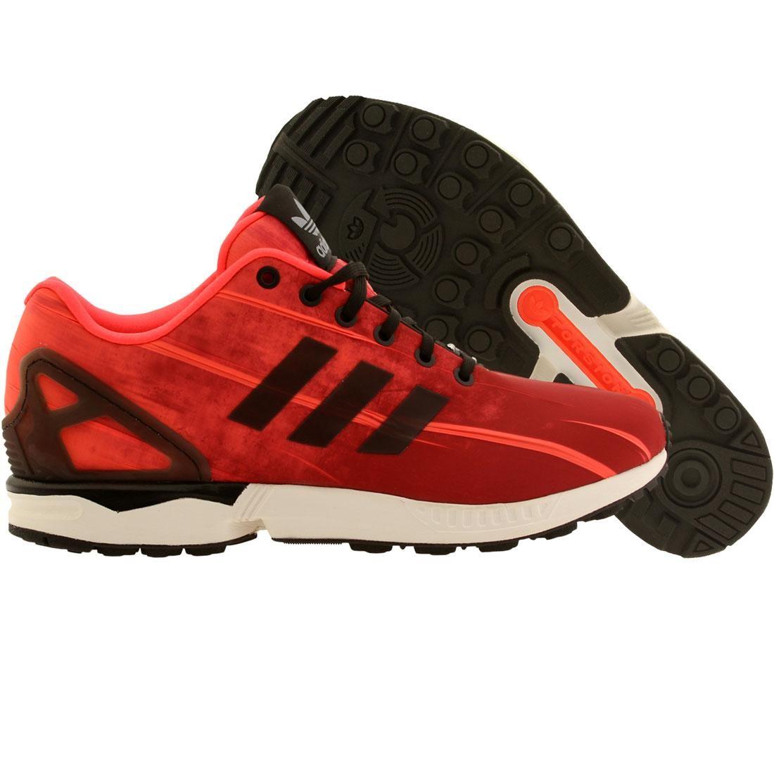 【海外限定】アディダス テニス スニーカー 靴 【 ADIDAS MEN ZX FLUX US OPEN TENNIS PACK RED BLACK 】