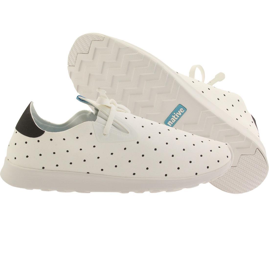 【海外限定】ネイティブ シェル 白 ホワイト メンズ靴 靴 【 SHELL WHITE NATIVE MEN APOLLO MOC EMBROIDERED POLKA 】