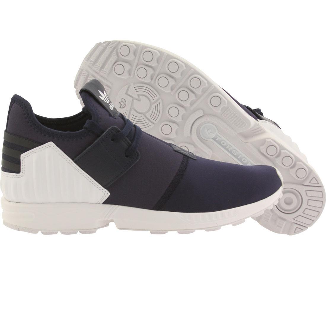 【海外限定】アディダス 紺 ネイビー メンズ靴 スニーカー 【 ADIDAS NAVY MEN ZX FLUX PLUS COLLEGIATE FOOTWEAR WHITE 】