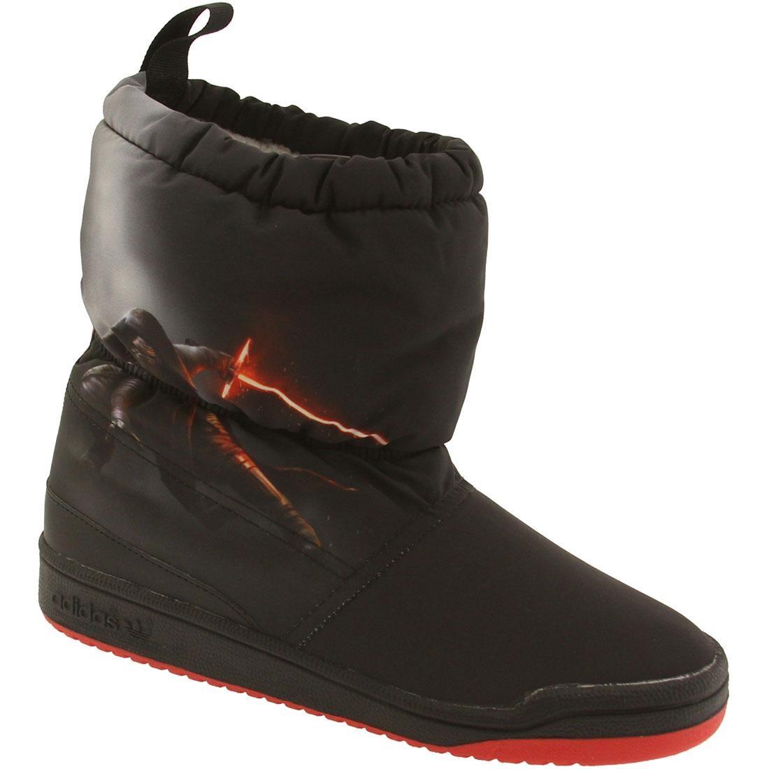 【海外限定】アディダス ブーツ コア 黒 ブラック ベビー スニーカー 【 ADIDAS BLACK BIG KIDS STAR WARS SLIP ON BOOT CORE RED 】